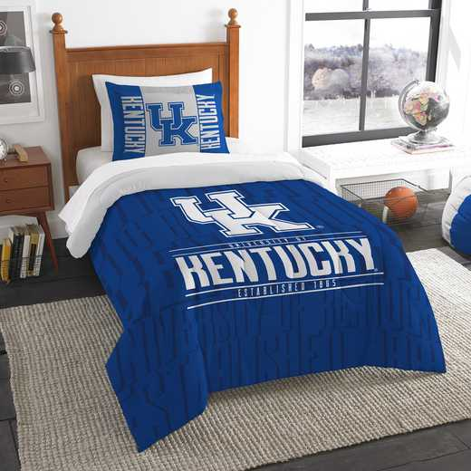1COL862000020RET: NW NCAA Twin Comforter Set, Kentucky