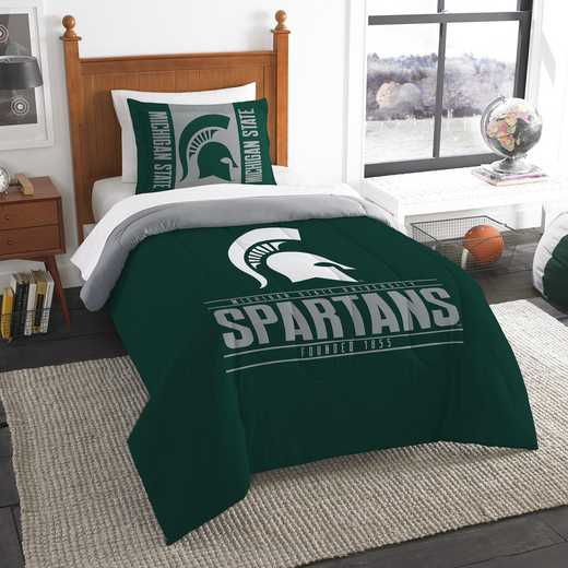 1COL862000031RET: NW NCAA Twin Comforter Set, Michigan St