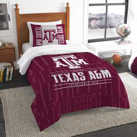 1COL862000034RET: NW NCAA Twin Comforter Set, Texas A&M