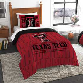 1COL862000035RET: NW NCAA Twin Comforter Set, Texas Tech