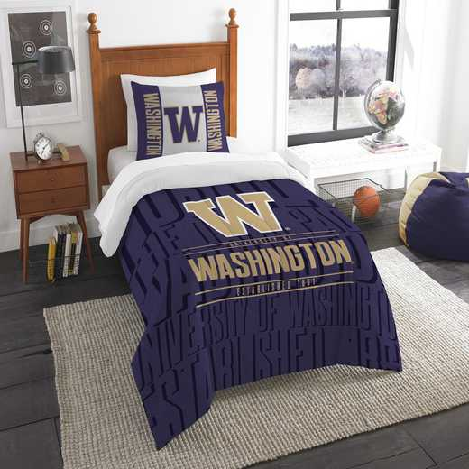 1COL862000037RET: NW NCAA F/Q Comforter Set, Washington