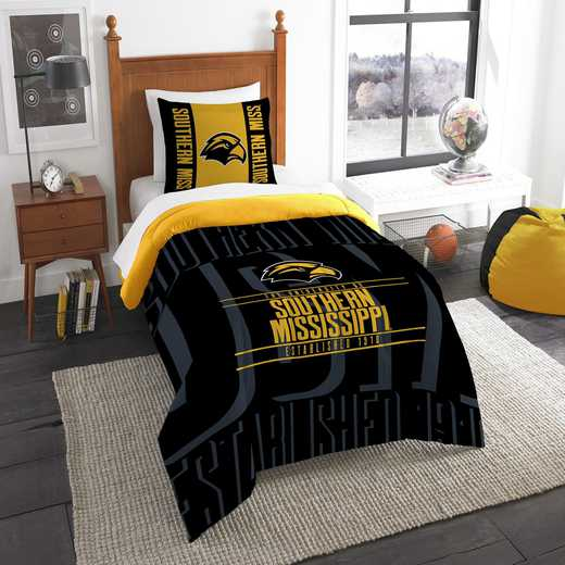 1COL862000044RET: NW NCAA F/Q Comforter Set, Southern Miss