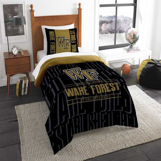 1COL862000095RET: NW NCAA F/Q Comforter Set, Wake Forest