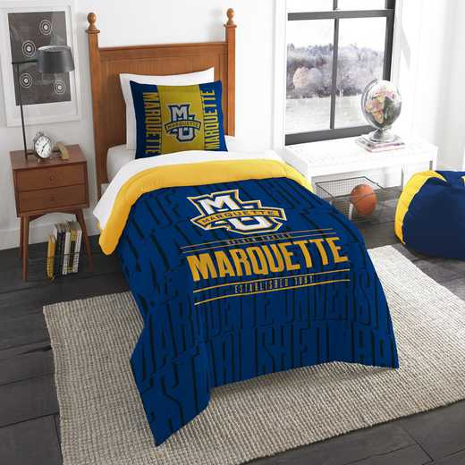 1COL862000115RET: NW NCAA F/Q Comforter Set, Marquette