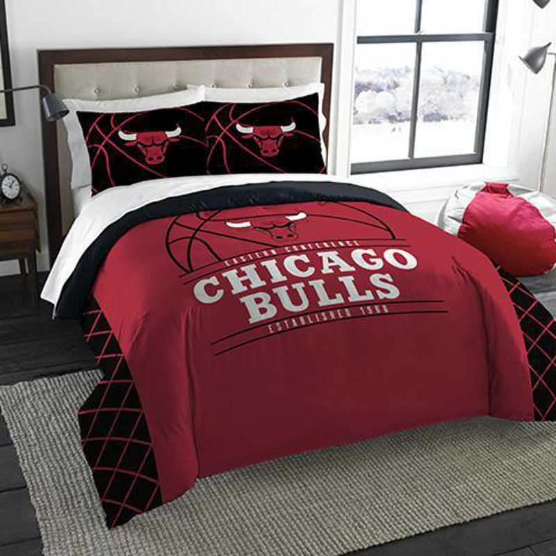 Chicago Bulls 3-Pointer NBA Full/Queen Comforter & Sham Set