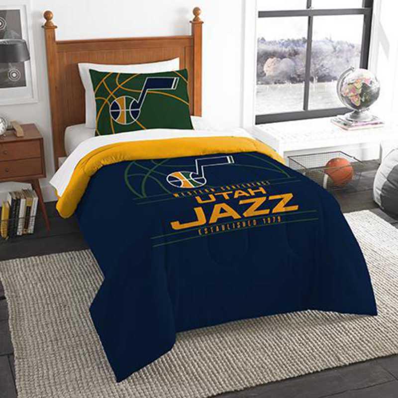 Utah Jazz 3-Pointer NBA Twin Comforter & Sham Set