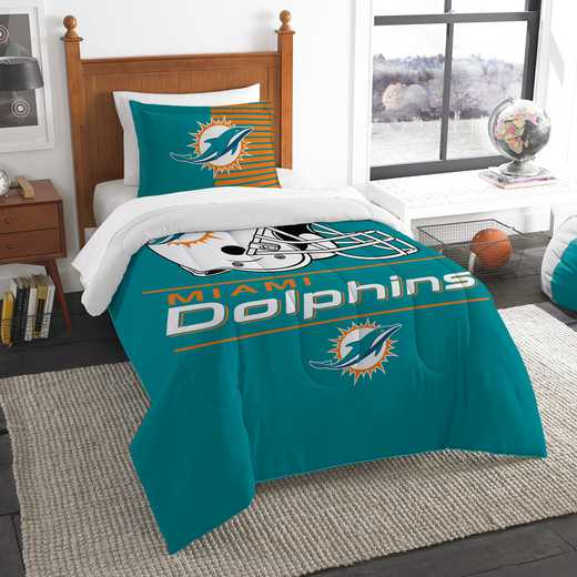 1NFL862000010RET: NW NFL  Anthem Twin Comf Set, Dolphins