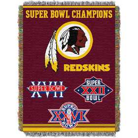 1NFL051400020RET: NW NFL Comm Tapestry Throw, Redskins