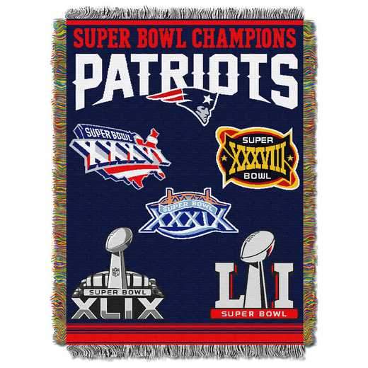 1NFL051400076RET: NW NFL Comm Tapestry Throw, Patriots
