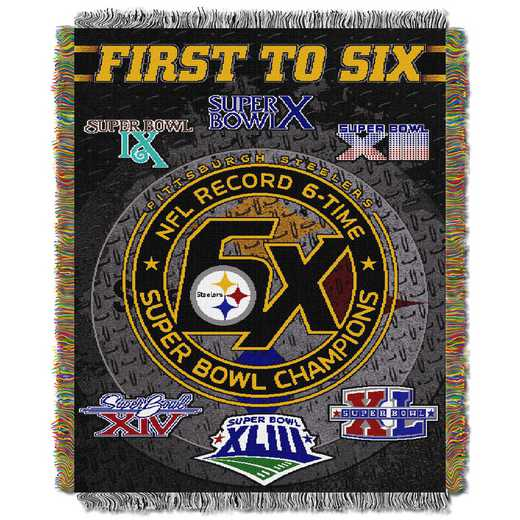 1NFL051400078RET: NW NFL Comm Tapestry Throw, Steelers