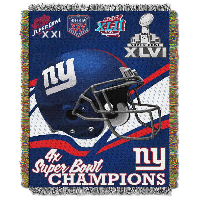 save off 5531d 567c3 New York Giants NFL Championship Tapestry Throw Blanket