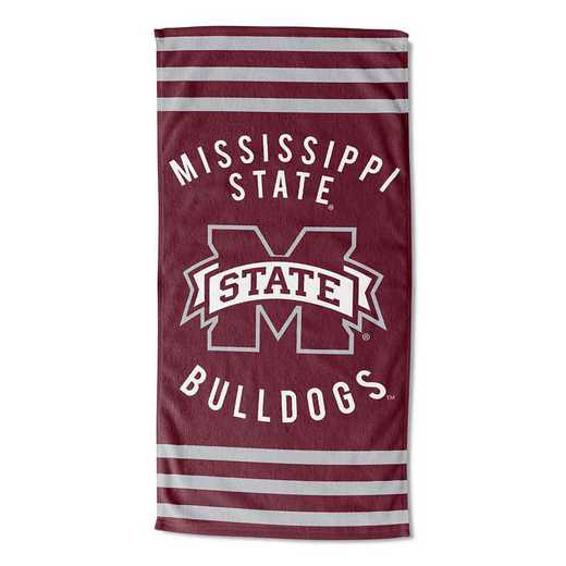 1COL620050056RET: COL 620 Mississippi State Stripes Beach Towel