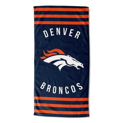 1NFL720040004RET: NFL 720 Broncos Stripes Beach Towel