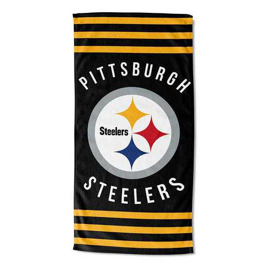 1NFL720040078RET: NFL 720 Steelers Stripes Beach Towel