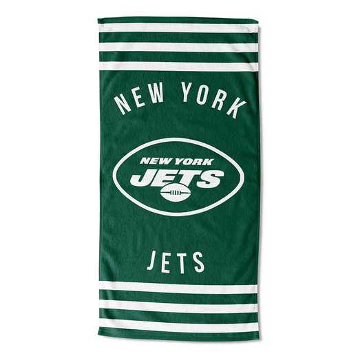1NFL720041015RET: NFL 720 Jets Stripes Beach Towel