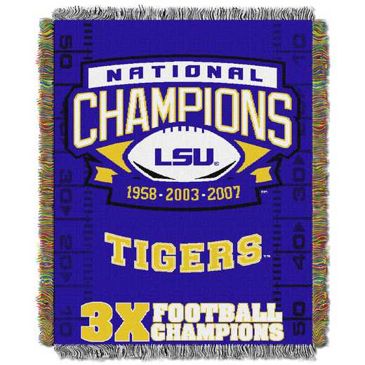 1COL051069046RET:  48x60 Tapestry Commemorative LSU