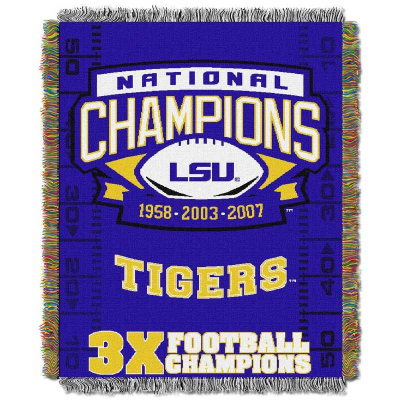 1COL051069046RET:  48x60 Tapestry Commemorative LSU