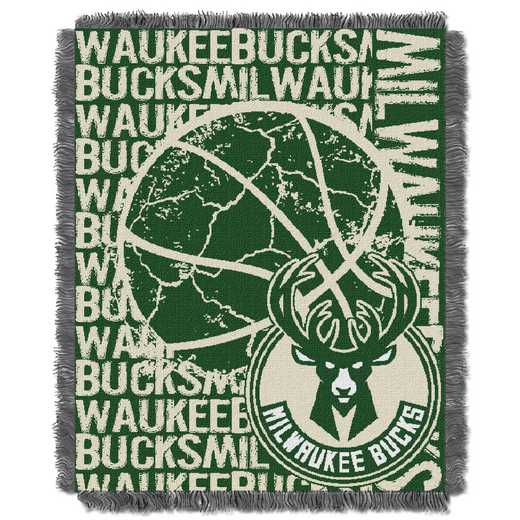 1NBA019040015RET: NBA  JACQUARD THROW, Bucks