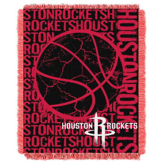 1NBA019040010RET: NBA  JACQUARD THROW, Rockets