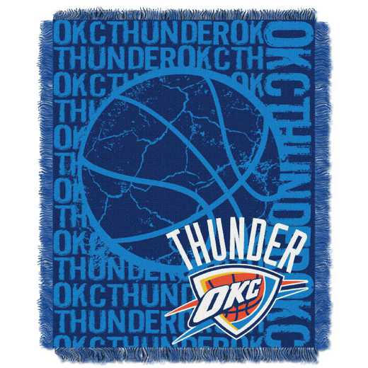 1NBA019040033RET: NBA  JACQUARD THROW, Thunder