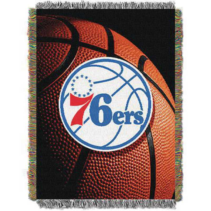 1NBA051030020RET: NW NBA Photo Real Tap Throw, 76ers