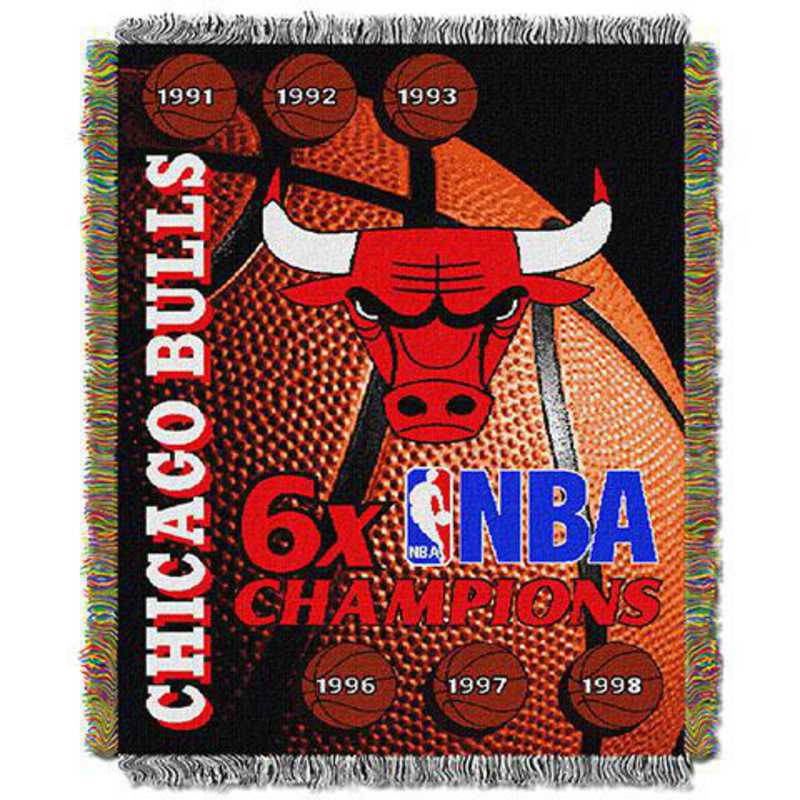 1NBA051500004RET: NW NBA Comm Tapestry Throw, Bulls