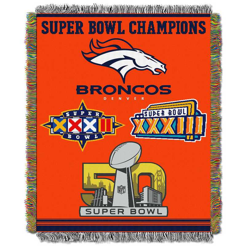 1NFL051400004RET: NW NFL Comm Tapestry Throw, Broncos