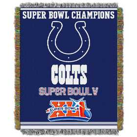 1NFL051400008RET: NW NFL Comm Tapestry Throw, Colts