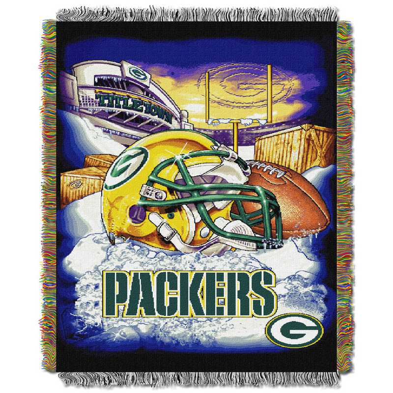 1NFL051010017RET: NW NFL HFA Tapestry Throw, Packers