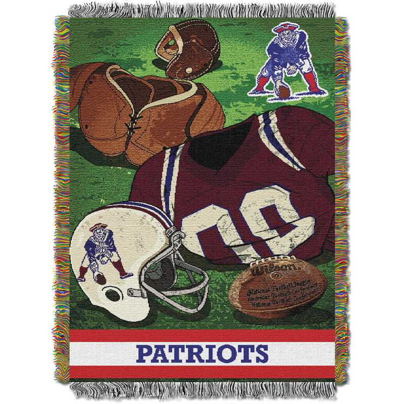 1NFL051020076RET: NW NFL Vintage Tapestry Throw, Patriots