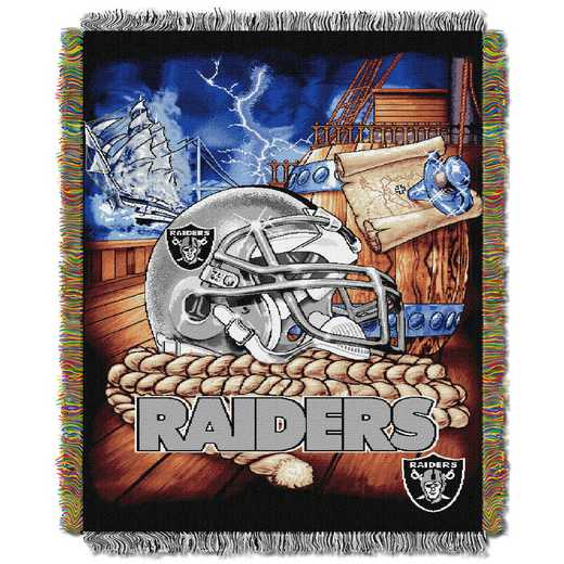 1NFL051010019RET: NW NFL HFA Tapestry Throw, Raiders