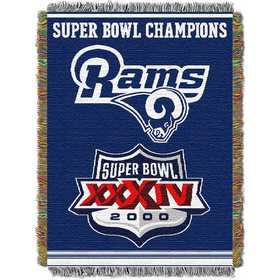 1NFL051400083RET: NW NFL Comm Tapestry Throw, Rams