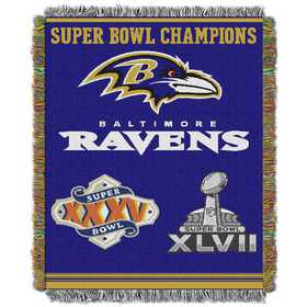 1NFL051400077RET: NW NFL Comm Tapestry Throw, Ravens