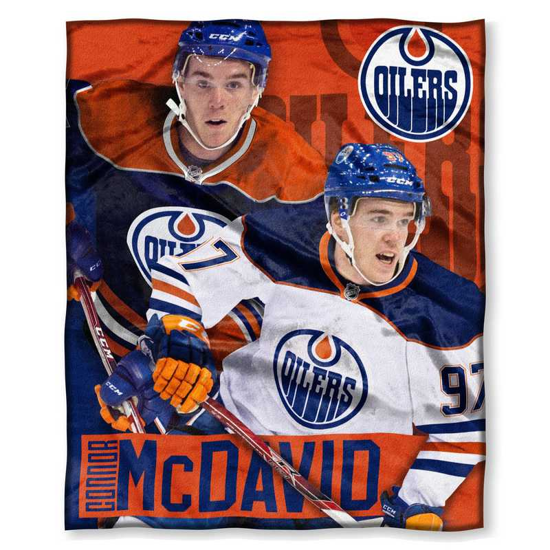 1PLY575003004RET: NHL 575 Oilers - Connor McDavid Silk Touch Throw