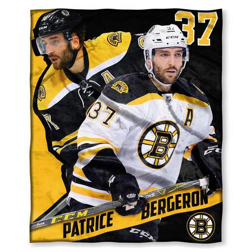 1PLY575003005RET: NHL 575 Bruins - Partice Bergeron Silk Touch Throw