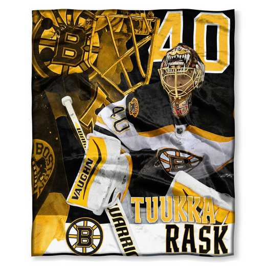1PLY575003006RET: NHL 575 Bruins - Tuuka Rask Silk Touch Throw
