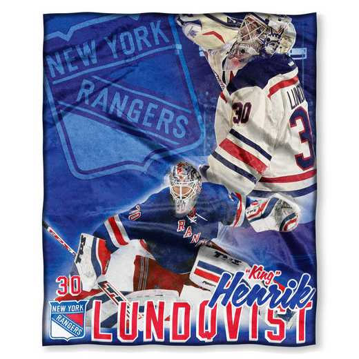 1PLY575003016RET: NHL 575 Rangers - Hendrick Lundqvist Silk Touch Throw