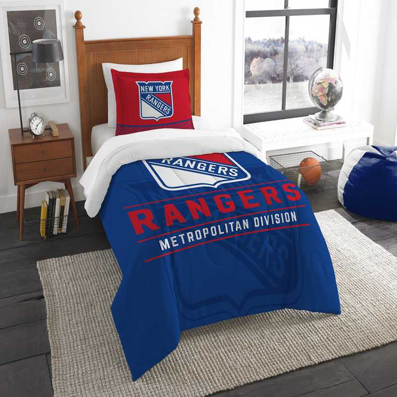 1NHL862010015RET: NW NHL TWIN COMFORTER SET, NY RANGERS