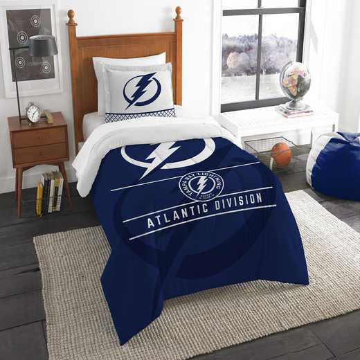 1NHL862010022RET: NW NHL TWIN COMFORTER SET, LIGHTNING