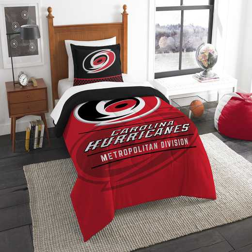 1NHL862010028RET: NW NHL TWIN COMFORTER SET, HURRICANES