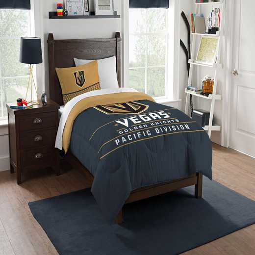 1NHL862010029RET: NW NHL TWIN COMFORTER SET, GOLDEN KNIGHTS