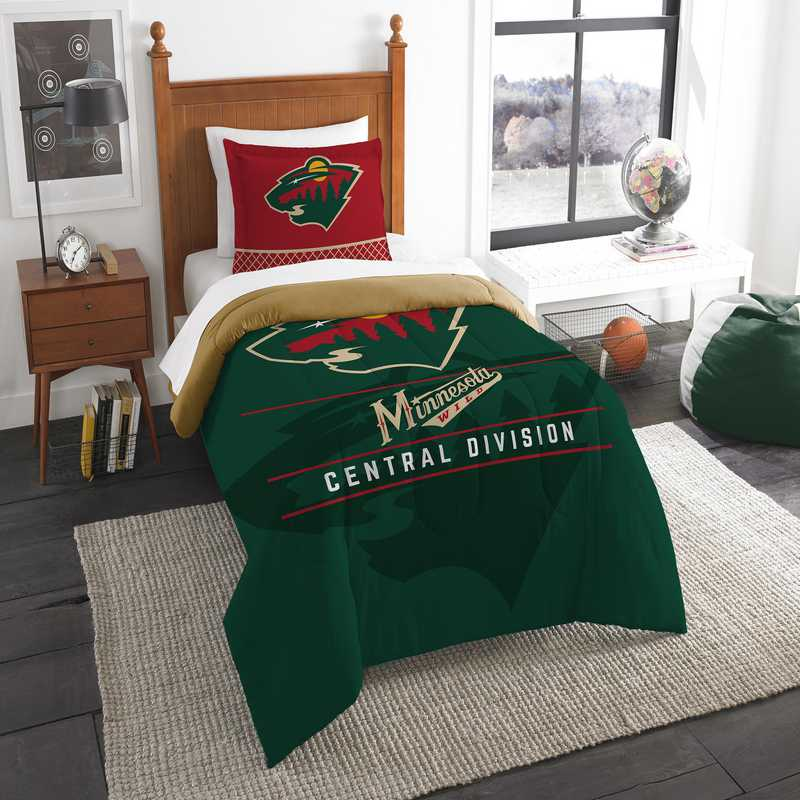 1NHL862010032RET: NW NHL TWIN COMFORTER SET, WILD