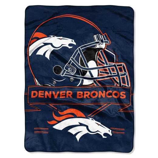 1NFL080710004RET: NW NFL Prestige Raschel Throw, Broncos