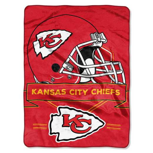 1NFL080710007RET: NW NFL Prestige Raschel Throw, Chiefs