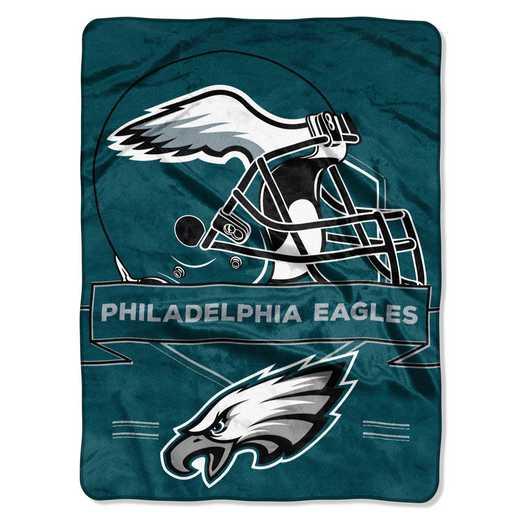 1NFL080710011RET: NW NFL Prestige Raschel Throw, Eagles