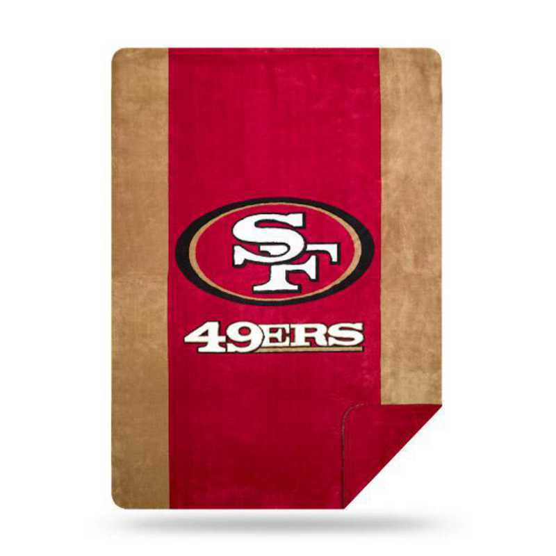 1NFL361000013RET: NFL 361 49ers Sliver Knit Throw