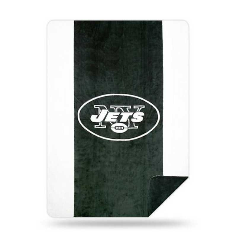 1NFL361000015RET: NFL 361 Jets Sliver Knit Throw