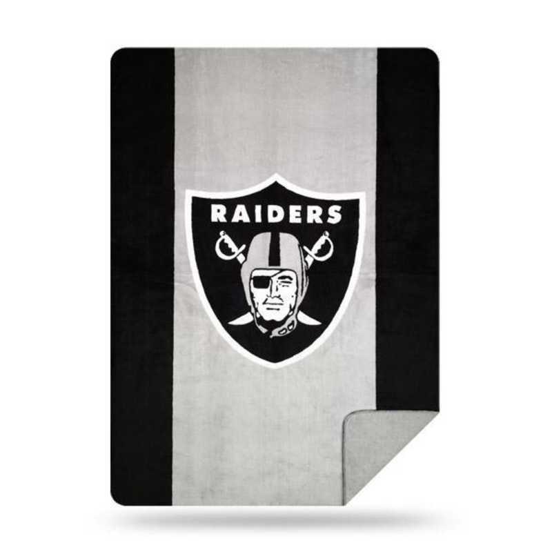 1NFL361000019RET: NFL 361 Raiders Sliver Knit Throw