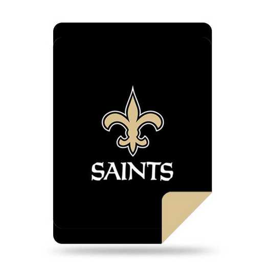 1NFL361000021RET: NFL 361 Saints Sliver Knit Throw