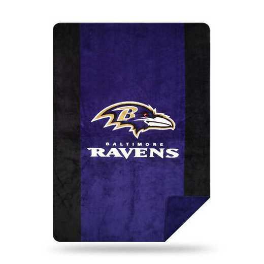 1NFL361000077RET: NFL 361 Ravens Sliver Knit Throw